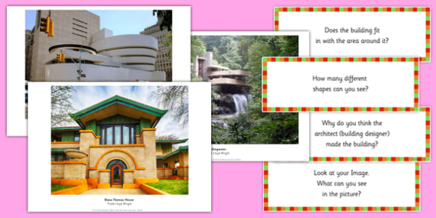 Frank Lloyd Wright Photopack and Prompt Questions - frank lloyd wright, photo pack, prompt, questions