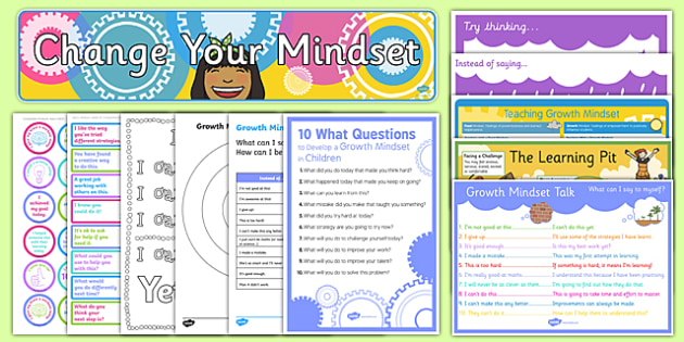 Top 10 Growth Mindset Resource Pack