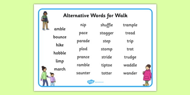 Alternative Words for Walk Word Mat - alternative word, walk, word mat, word, mat, alternative