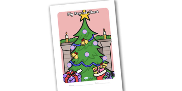 Sticker Reward Chart Christmas Themed (15mm) - christmas, sticker