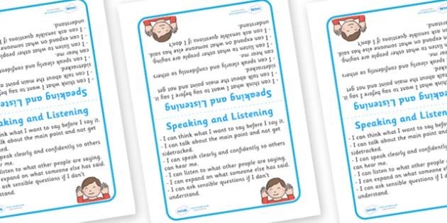 Tabletop Visual Targets English Speaking And Listening - English, sign, speaking, listening, target, table sign, visual, Literacy, KS1, Foundation Stage, Literacy, CLL