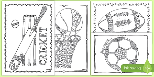 Sports Mindfulness Colouring Sheets - sports, mindfulness, colouring, colour, activity, calm, de-stress, calm down