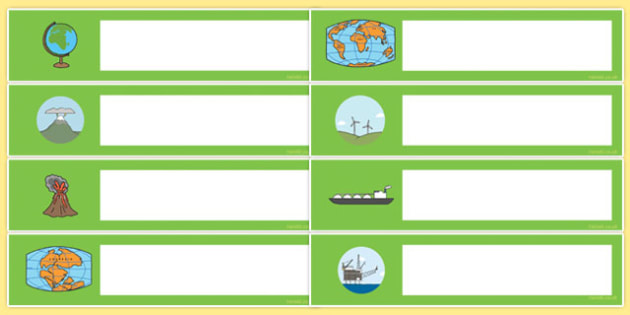 Geography Themed Editable Gratnells Tray Labels - tray labels