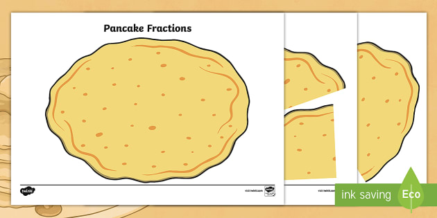 Pancake Fractions Activity to Support Teaching on Mr Wolf's Pancakes - pancake, pancake day, fraction, math