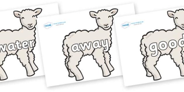 Next 200 Common Words on Lambs - Next 200 Common Words on  - DfES Letters and Sounds, Letters and Sounds, Letters and sounds words, Common words, 200 common words