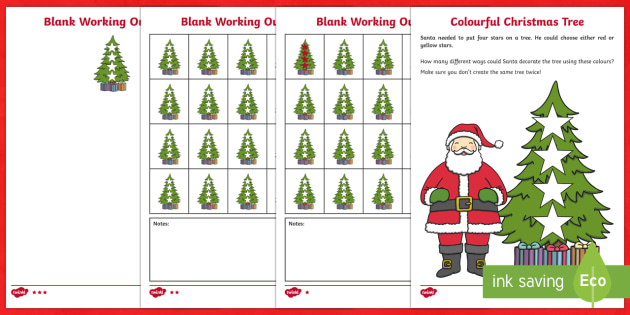 Christmas Tree Combinations Investigation Activity