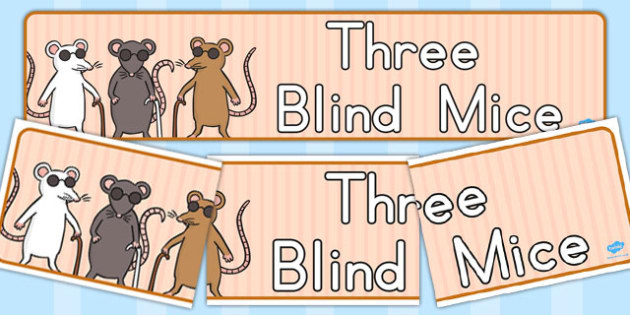 Three Blind Mice Display Banner - banners, displays, visual