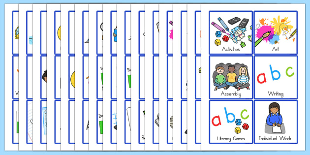 KS1 Visual Timetable - ks1, timetable, visual timetable, display