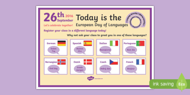 Register your Class in a Different Language Display Poster