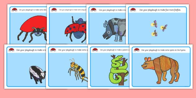 Playdough Mats to Support Teaching on The Bad Tempered Ladybird - fine motor skills