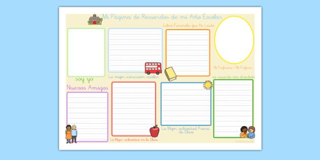 Memorias del curso escolar - Escritura - escritura, memorias, año pasado
