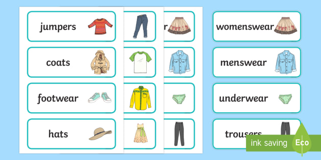 Clothes Shop Labels - Clothes shop Role Play, clothes shop resources, shop, till, buy, money, clothes, ourselves, shoes, role play, display, poster, Shop Labels - shop, price, price labels, for sale,