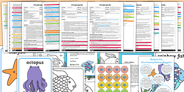EYFS Adult Input Planning and Resource Pack to Support Teaching on The Rainbow Fish  - eyfs, rainbow fish, adult, input, planning, pack