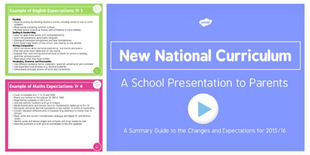 New Curriculum Parents Information - new curriculum, parents, information