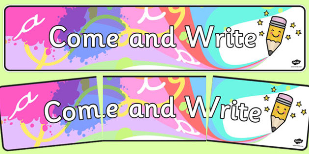 Come and Write Display Banner - writing, display, banner
