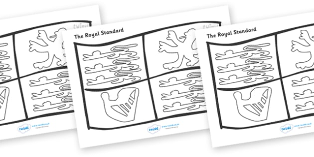 The Royal Standard Colouring Sheet - Royal Wedding, The Royal Wedding, colouring poster, colouring, fine motor skills, Prince William, Kate Middleton, The Royal Wedding, April 29th, Queen, Prince philip, marr