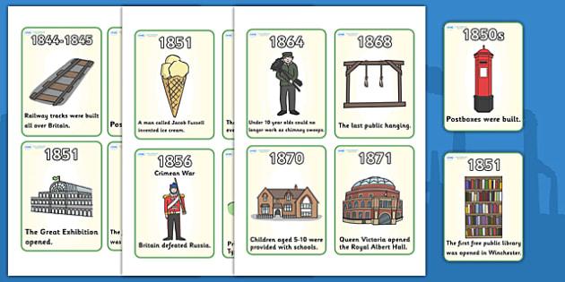Victorian timeline Flash Cards - Victorians, Queen Victoria, 19th century, British History, timeline, events, flashcards, cards, word cards, Britain, Victorian toys, Victorian school, butler