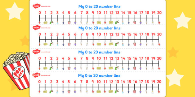 Punch and Judy Number Lines 0 20 - Number, maths, lines, punch