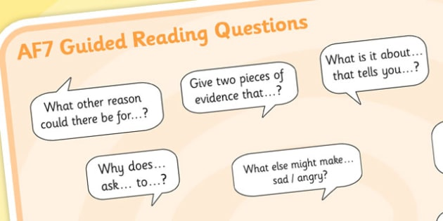 AF7 Guided Reading Question Mat - assessment focus 7 mat, af mat, af7 mat, assessment focus questions, af7 questions mat, assessment focus reading mat, af7