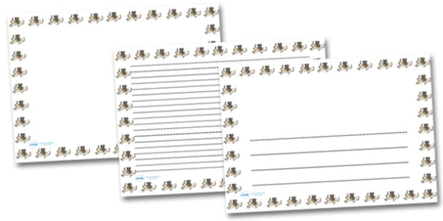 Baby Dogs Puppies Landscape Page Borders- Landscape Page Borders - Page border, border, writing template, writing aid, writing frame, a4 border, template, templates, landscape