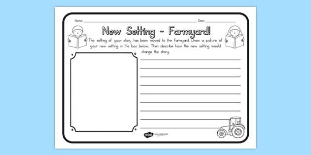 New Setting Farm Yard Comprehension Worksheet - worksheets, farms