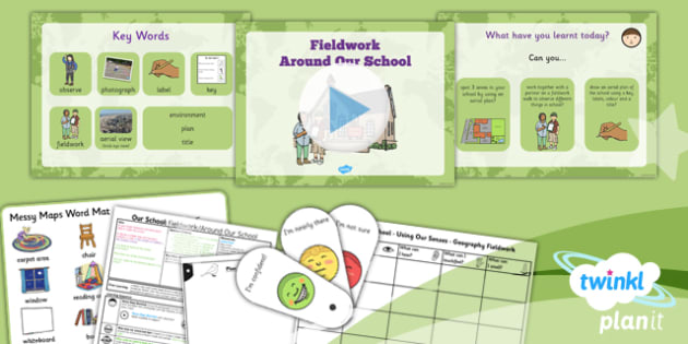PlanIt Geography Year 1 Our School Lesson 4 Fieldwork Around