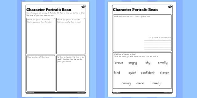 Character Profile Bean Worksheet to Support Teaching on Fantastic Mr Fox - australia