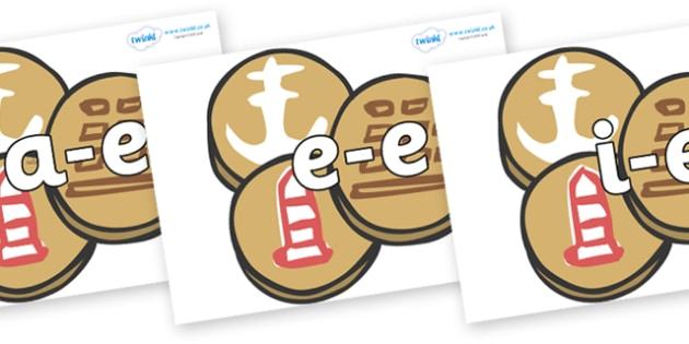 Modifying E Letters on Sea Biscuits to Support Teaching on The Lighthouse Keeper's Lunch - Modifying E, letters, modify, Phase 5, Phase five, alternative spellings for phonemes, DfES letters and Sounds