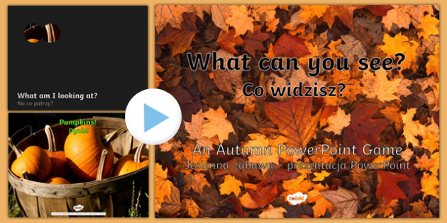 What Can You See Autumn PowerPoint Polish Translation-Polish-translation