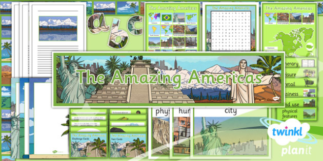 PlanIt - Geography Year 6 - The Amazing Americas Unit Additional Resources - planit, geography, amazing americas