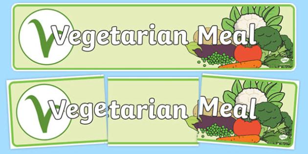 Vegetarian Meal Display Banner - vegetarian meal, meal, veggie, vegetarian, display banner, display, banner