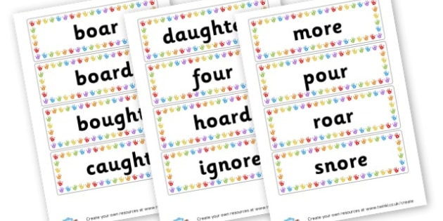 or Extended Code Word Cards - Words & Vocab Primary Resources, literacy, keywords, cvc, phonemes