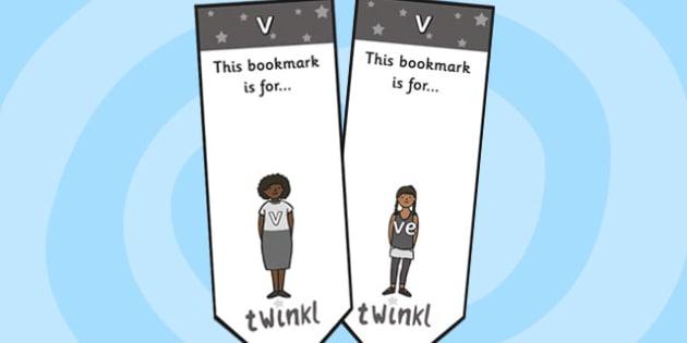 v Sound Family Editable Bookmarks - v sound family, editable bookmarks, bookmarks, editable, behaviour management, classroom management, rewards, awards