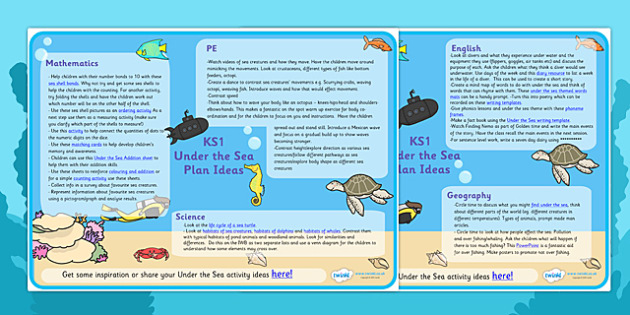 Under The Sea Lesson Plan Ideas KS1 - under the sea, under the sea lesson plan, under the sea lesson ideas, under the sea lesson plan ideas, mpt ideas