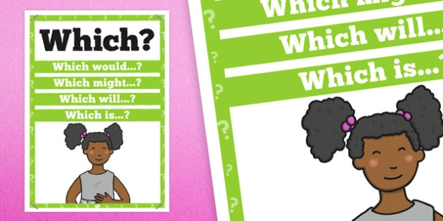 Which Question Poster - posters, displays, display, questions