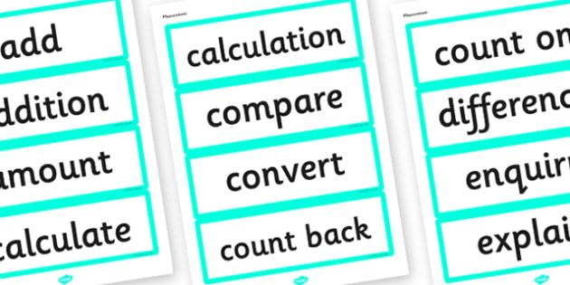 Year 3 2014 Curriculum Maths Measurement Vocabulary Card - measure