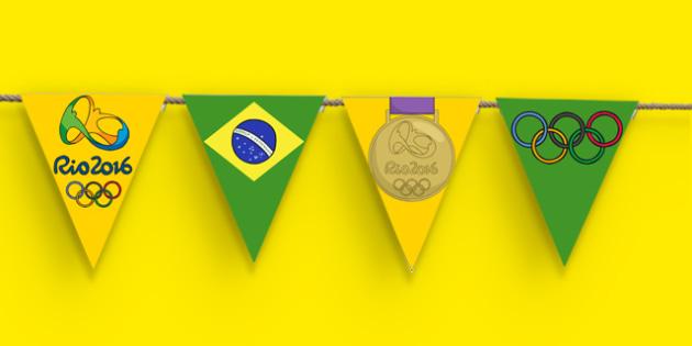 Rio Olympics 2016 Bunting - nz, new zealand, rio olympics, 2016 olympics, rio 2016, bunting, display