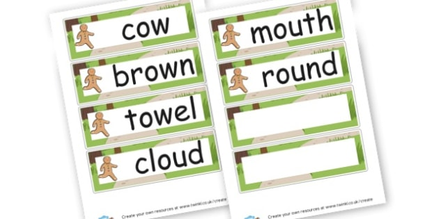 Alternative 'ou' Words - DFE Letters and Sounds Phonics Screening Check Primary Resources