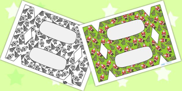 Make Your Own Christmas Crackers - Christmas, xmas, cracker template, make a cracker, cracker, editable, tree, advent, nativity, santa, father christmas, Jesus, tree, stocking, present, activity, cracker, angel, snowman, advent , bauble , editable te