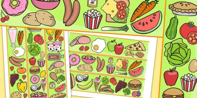 Food Themed Display Border - food, healthy eating, display border, border, classroom border, fruit, vegetable