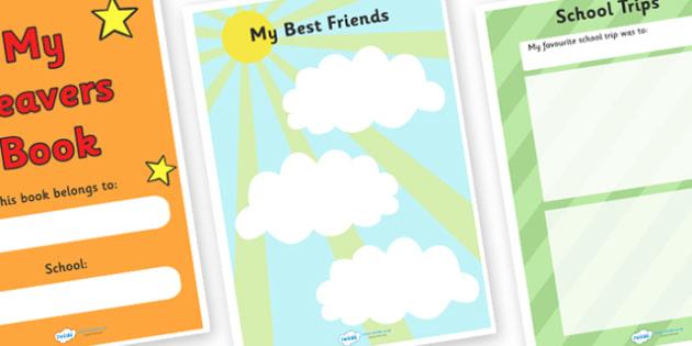 School Leavers Scrapbook KS1 - school leavers, school, leavers, scrapbook, scrap book, memories, photos, images, KS1, leaving school, creative, creativiy, activity