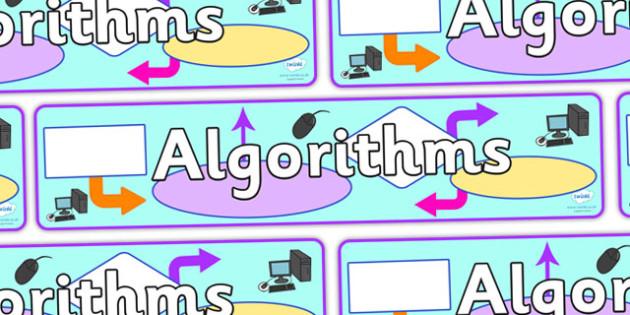 Algorithms Display Banner - algorithms, display, banner, banner for display, algorithms banner, algorithms header, display header, header for displays
