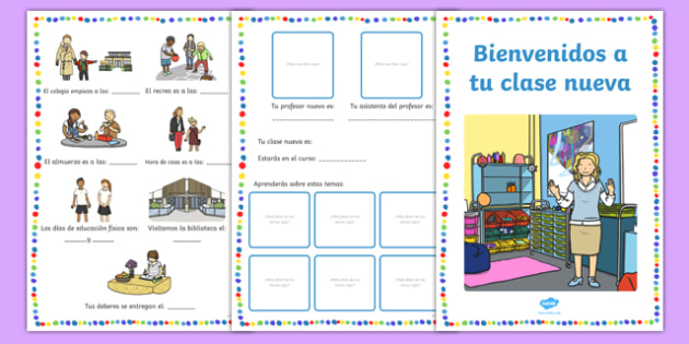 Welcome to Your New Class Booklet Spanish-Spanish