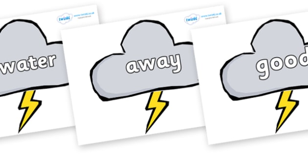 Next 200 Common Words on Weather Symbols (Stormy) - Next 200 Common Words on  - DfES Letters and Sounds, Letters and Sounds, Letters and sounds words, Common words, 200 common words