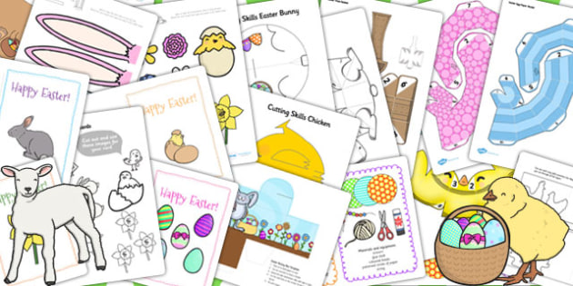 Easter Paper Craft Resource Pack - easter, paper, craft, pack