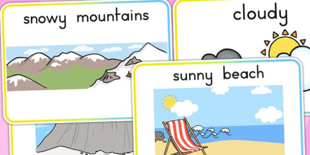 Winter Display Posters - seasons, weather, poster, display