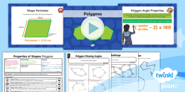 PlanIt Y6 Properties of Shape Lesson Pack - Properties of Shape, 2D shapes, geometric shapes, comparing shapes, classifying shapes, polygons, un
