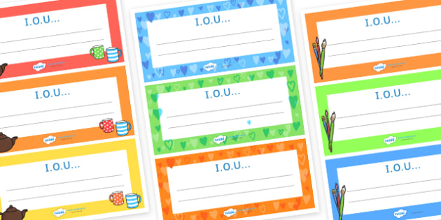 Father's Day IOU Vouchers - father, Father's day, dad, gifts, cards