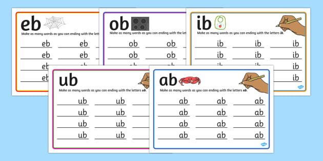 b Rime Mats - rime, cards, rhyme, words, activity, word, card, b