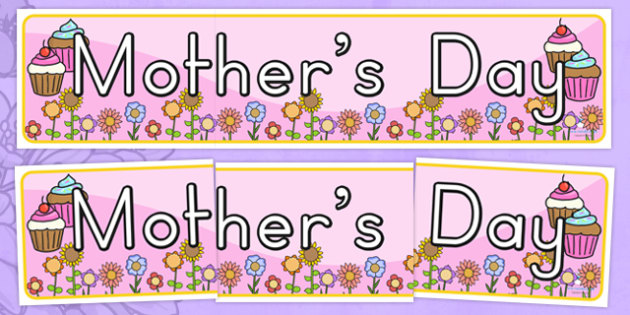 Mothers Day Display Banner - mothers day display, banner, header